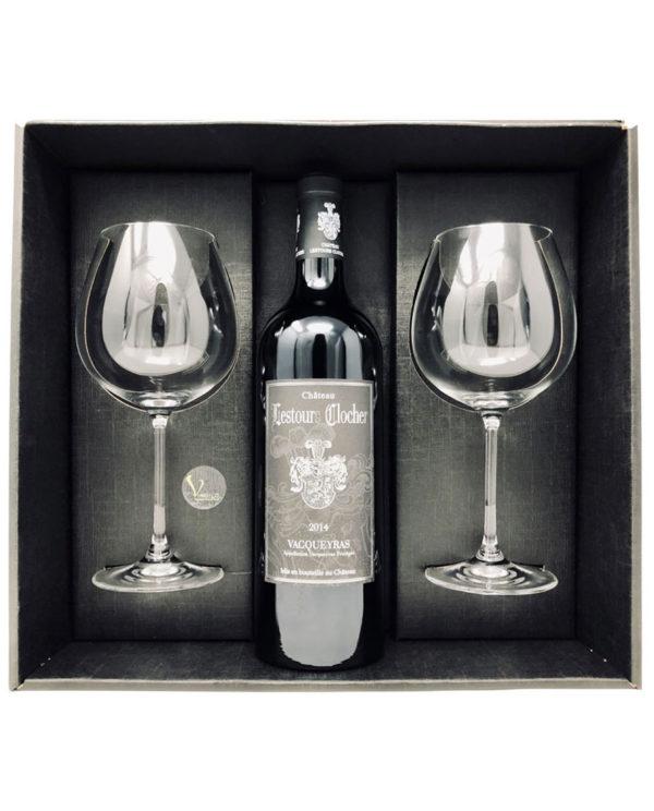 coffret-cadeau-vin-rouge-lestours-clocher-2-verres-vin-vindilo